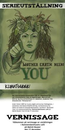 Serietecknare med klimatet i fokus ställer ut