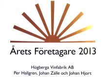 Högberga Vinfabrik  - Årets Företagare på Lidingö 2013