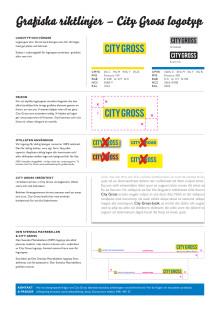 City Gross grafisk riktlinje logotypfärger