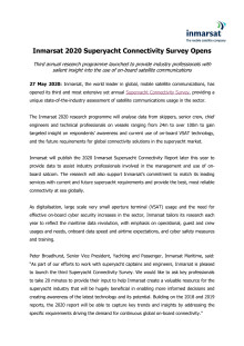 Inmarsat 2020 Superyacht Connectivity Survey Opens