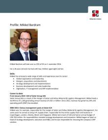 Profile Mikkel Bardram Ny CEO