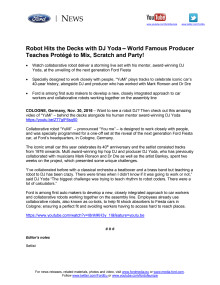 Go Further: Robot DJ fejrer Fiesta's 40-års jubilæum