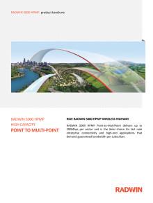 RADWIN 5000 radiolänkar med 200 Mbit/s