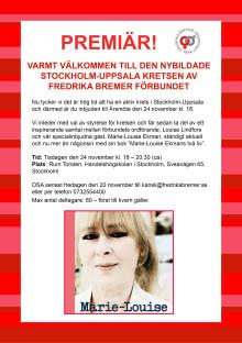 Premiär för den nybildade Stockholm-Uppsala kretsen av FBF