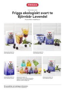 Friggs ekologiskt svart te Björnbär Lavendel
