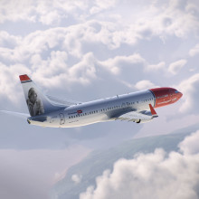 Norwegian announces Roald Dahl as first ever UK tail fin hero