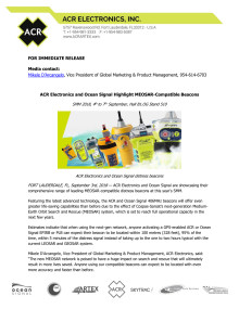 ACR Electronics and Ocean Signal Highlight MEOSAR-Compatible Beacons