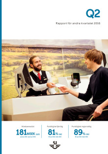 SJs kvartalsrapport april – juni 2016