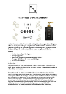 evo hair- Temptress Shine Treatment
