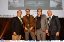 Dometic: Sponsor Dometic Presents Vripack with IBI/METSTRADE Boat Builder Awards Honour