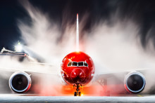 Norwegians første flygning mellom Frankrike og USA tar av