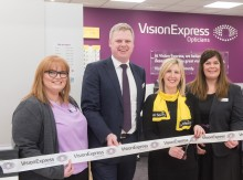 Charity ambassador joins Vision Express to officially open optical store at Tesco in Knocknagoney