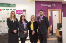 Charity ambassador joins Vision Express to officially open optical store at Tesco in Newtownabbey