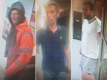 Pictures of three men sought over robbery at St Leonards flat