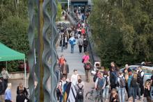 Välkomstmässa med 5 000 studenter