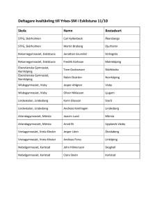 Deltagare i Kvaltävlingen till Yrkes-SM i Eskilstuna