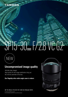 Tamron 15-30mm F2.8 Di VC USD G2 Leaflet