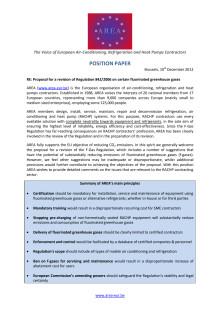 Ny förordning om fluorerande växthusgaser