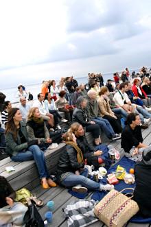 Picknick med klassisk efterrätt i Västra hamnen