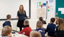Lärare löste problemet med att höras i klassrummet