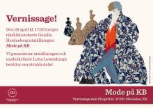 Pressinbjudan: Modeutställning på Kungl. biblioteket, Vernissage tisdag 28 april 17.00
