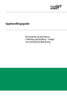 Upphandlingsguide – att använda sociala hänsyn i offentlig upphandling