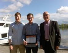 Sven fick stipendium för brinnande entreprenörskap i strumpor