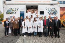 BioTechnikum in Singen: Takeda-Ausbildungsbotschafter im rollenden Labor