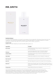 Mr smith Produktinfo Hydrating Shampoo