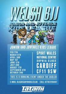 First Welsh Kids BJJ League of 2016 on February 7th