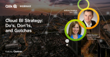 Tahola invites you to join the Qlik webinar, ​Cloud BI Strategy: Do's, Don'ts, and Gotchas