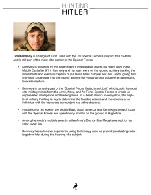 Hunting Hitler: Tim Kennedy