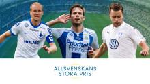 Finalisterna som kan belönas på Allsvenskans Stora Pris