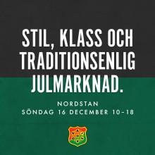 GAIS traditonsenliga julmarknad i Nordstan 16 december