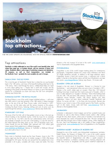 Facts: Stockholm top attractions