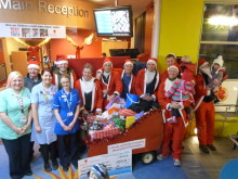 Stafford Santas deliver sackloads of gifts to Birmingham Children's Hospital