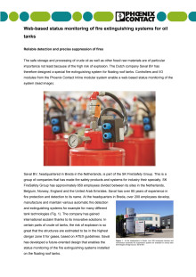 Web-based status monitoring of fire extinguishing systems for oil tanks