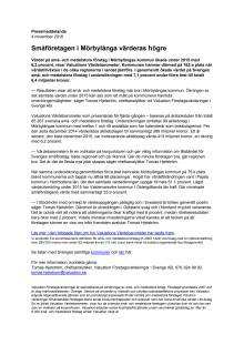 Värdebarometern 2015 Mörbylångas kommun