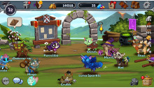 Control an army of cats in Castle Cats