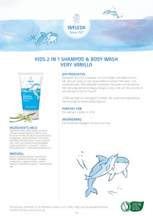 Kids 2 in 1 Shampoo & Body Wash Very Vanilla