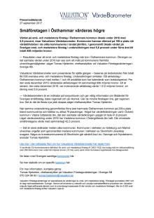 Värdebarometern 2017 Östhammars kommun