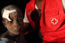 Röda Korset på plats i det jordbävningsdrabbade Haiti