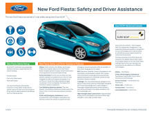 NEW FORD FIESTA: SAFETY AND DRIVE ASSISTANCE