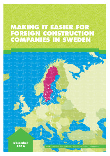 SABO report in english: Making it easier for foreign construction companies in Sweden