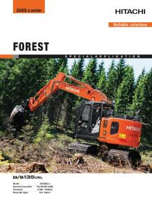 Broschyr_Delvator_Hitachi_ZX135USL-6 Forestry excavator