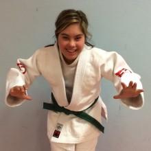 Amanda Orrbo först på Judogymnasiet
