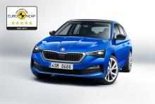 ŠKODA SCALA opnår 5 stjerner hos Euro NCAP