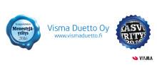 Perintäalalla toimiva Visma Duetto Oy on luokiteltu sekä kasvuyritykseksi että toimialansa parhaimpien joukkoon sijoittuvaksi