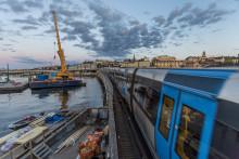 Så kunde tunnelbanan gå på Söderströmsbron samtidigt som stålet byttes ut