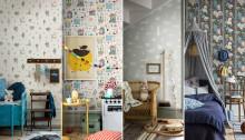 En Tapet – Tusen Sagor.  Boråstapeters nya barnkollektion Scandinavian Designers Mini